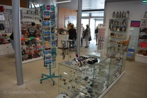 Souvenir shop in the cruise terminal A Coruna