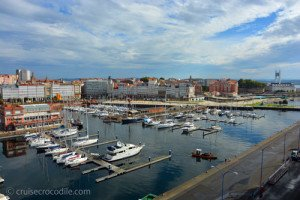 A Coruna's view from the ship