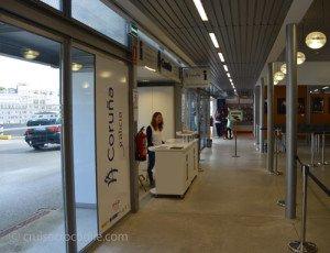Tourist information in cruise terminal A Coruna