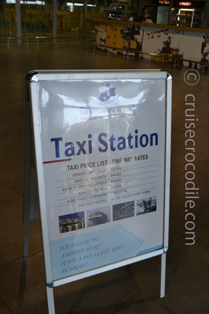 Cruise terminal taxi prices Ashdod