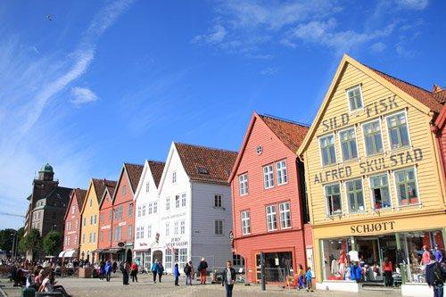 Bryggen in cruise destination Bergen