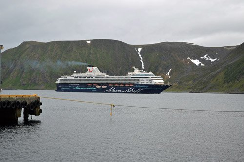 Cruise ship in Honningsvag