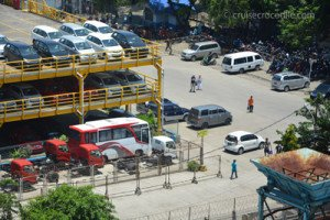 Taxis at the Makassar cruise terminal