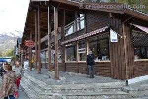 Cruise pier in Geiranger
