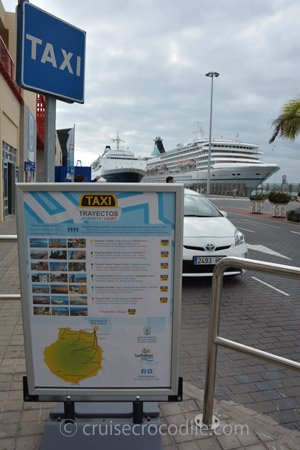 Taxi prices at the cruise port in Las Palmas