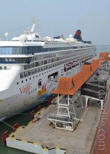 Dock at cruise terminal Port Klang