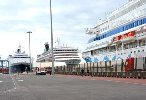 Cruise dock at Las Palmas