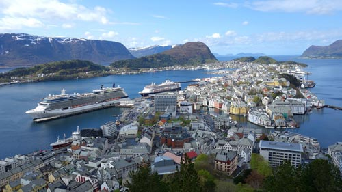 Cruise port Alesund
