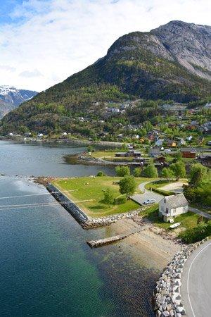 Cruise destination Eidfjord