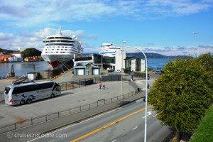 Cruise dock in Bergen, Norway
