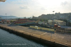The dock of the port of Port Blair