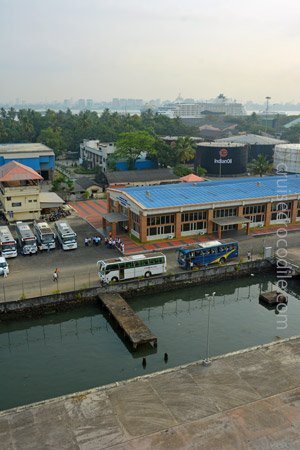 Cruise dock in Cochin