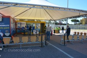 Drop off location port shuttle bus Civitavecchia
