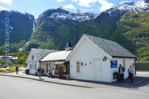 Tourist information cruise guest in Eidfjord