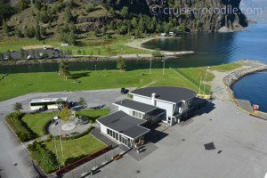 The cruise terminal in Flam, Norway.