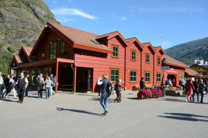 Tourist information centre in cruise port Flam.