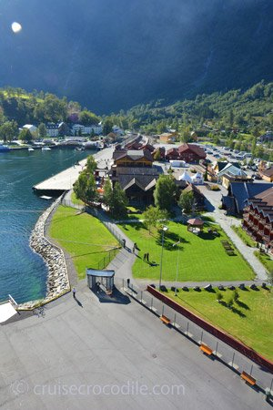 Cruise ship in port of Flam