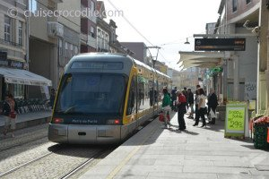 Take tram from Leixoes cruise port to Porto centre