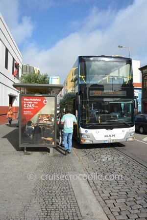 Take bus from cruise port Leixoes to Porto