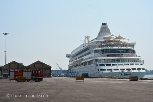 Cruise dock in Mangalore