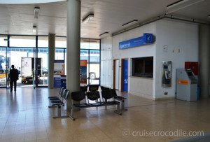 Inside the Portimao cruise terminal