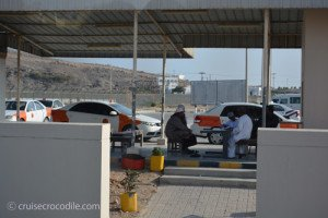 Exit of the cruise port, Salalah, Oman.