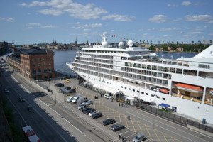 Docking location in Stockholm for cruise ships