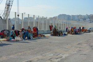 Tangier cruise dock shops