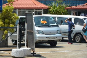 Taxis at the cruise port of Colombo