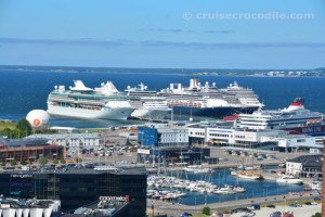 Cruise ships in port of Tallinn