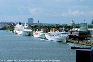 Cruise Copenhagen: ships at Langelinie