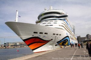 Aida at the cruise terminal Helsinki