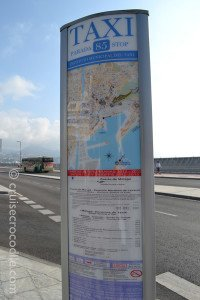 Malaga taxi prices for cruise passengers
