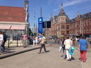 Amsterdam Central Station close to Amsterdam Cruise Terminal