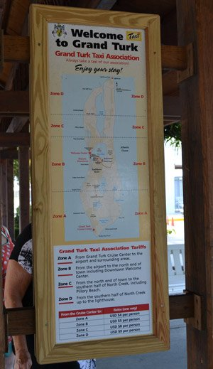Cruise taxi prices for Grand Turk
