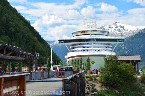 Cruise dock Skagway