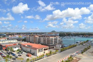 Aruba Cruise Port, view from the dock