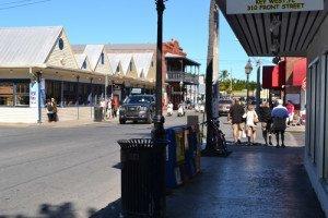 Front street en Duval street for cruise passengers