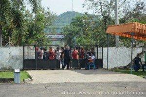 Lombok cruise port exit.