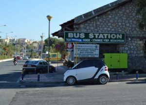 Iraklion's bus station from cruise port to Knossos.