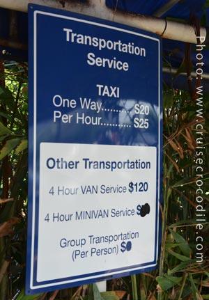 Cruise Cartagena taxi prices