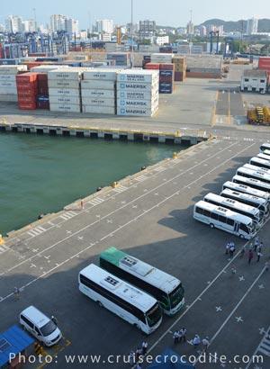 Cruise dock Cartagena Colombia