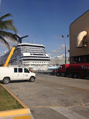 Cruise dock Fort Lauderdale
