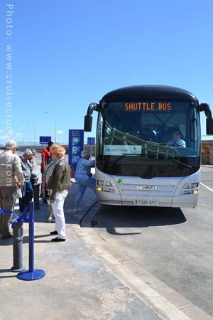 Alicante cruise shuttle bus