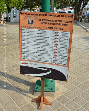 Cruise taxi prices - Huatulco