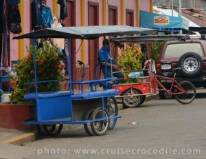 Pedi cabs at Corinto cruise port
