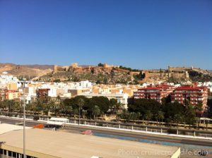 View from Almeria cruise dock