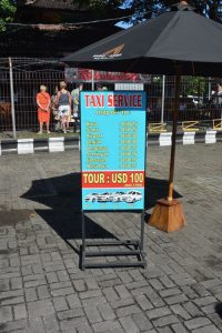 Bali cruise port taxi prices