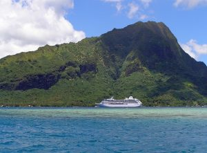 Moorea cruise ship at anchor