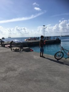 Rangiroa cruise dock